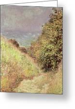 Chemin De La Cavee Pourville Greeting Card