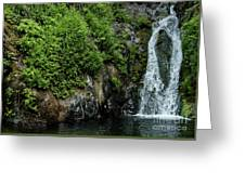 Chemisal Falls At Vichy Springs In Ukiah In Mendocino County, California Greeting Card