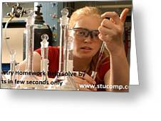 Chemistry Homework Help Solve By Experts In Few Seconds Only  Greeting Card
