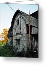 Chequamegon National Forest Barn Portrait Greeting Card