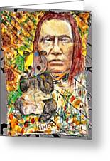 Cherokee Chief With Friend Mr.p Greeting Card