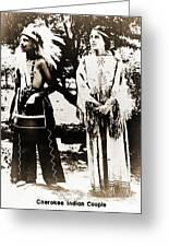 Cherokee Indian Couple Greeting Card