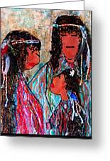 Cherokee Trail Of Tears Brave Family Greeting Card