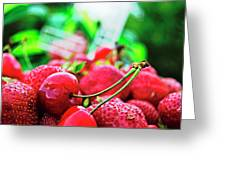 Cherries And Berries Greeting Card