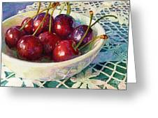 Cherries Jubilee Greeting Card