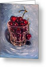 Cherries Original Oil Painting Greeting Card