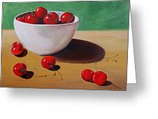 Cherries Overboard Greeting Card