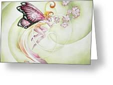 Cherry Blossom Faery Greeting Card