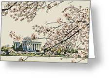 Cherry Blossom Tidalbasin View Greeting Card