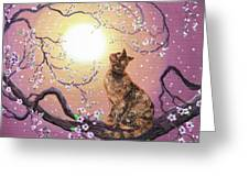 Cherry Blossom Waltz Greeting Card by Laura Iverson