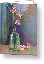 Cherry Blossoms In A Bottle Greeting Card