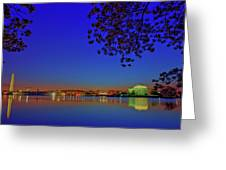 Cherry Blossoms Sunrise Greeting Card
