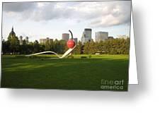 Cherry Bridge Sculpture Greeting Card