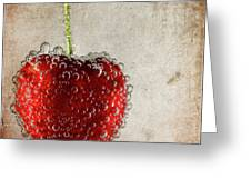 Cherry Fizz Greeting Card by Al  Mueller