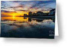 Cherry Grove Beach Front Sunset Greeting Card