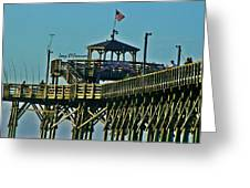 Cherry Grove Pier - Closeup End Of Pier Greeting Card