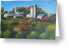 Cherry Hill Farm Lunenburg Ma Greeting Card