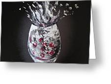 Cherry Splash Greeting Card