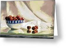 Cherry Still Life Greeting Card