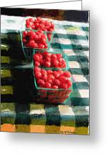 Cherry Tomato Basket Greeting Card by RG McMahon
