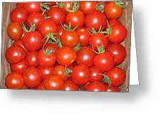 Cherry Tomato Harvest Greeting Card