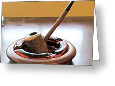 Cherrywood Freehand Pipe Greeting Card