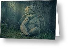 Cherub Lost In Thoughts Greeting Card