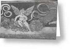 Cherub Stone Graffiti 1 Greeting Card