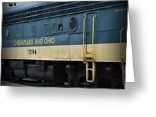 Chesapeake And Ohio Boxcar  Greeting Card