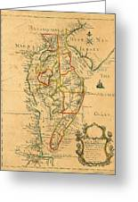 Chesapeake Bay 1786 Greeting Card