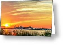 Chesapeake Bay Bridge Sunset Greeting Card