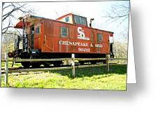 Chesapeake -ohio Rr Greeting Card