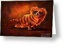 Cheshire Canine Greeting Card