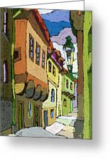 Chesky Krumlov Street Nove Mesto Greeting Card
