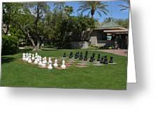 Chess At The Biltmore Greeting Card