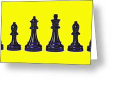 Chessmen Greeting Card