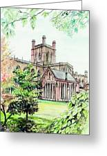 Chester Cathedral England Greeting Card