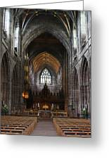 Chester Cathedral England Uk Inside The Nave Greeting Card