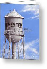 Chester Water Tower Ne Greeting Card