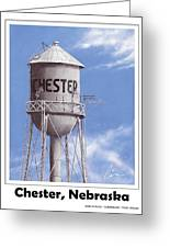 Chester Water Tower Poster Greeting Card