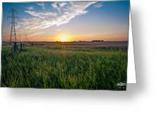 Chestermere Sunset Greeting Card by Adnan Bhatti
