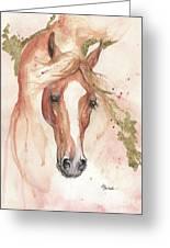 Chestnut Arabian Horse 2016 08 02 Greeting Card