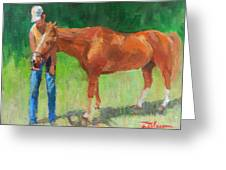 Chestnut The Horse Greeting Card