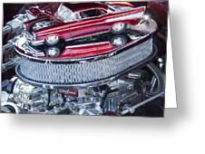 Chevrolet Bel-air Matchbox Car Greeting Card