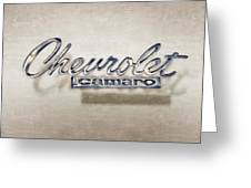 Chevrolet Camaro Badge Greeting Card