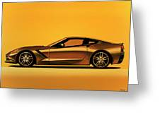 Chevrolet Corvette Stingray 2013 Painting Greeting Card