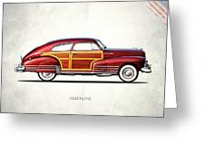Chevrolet Fleetline 1948 Greeting Card