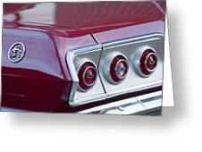 Chevrolet Impala Ss Taillight 2 Greeting Card