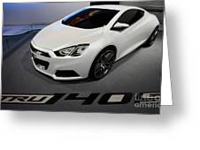 Chevrolet Tru 140s Concept Greeting Card