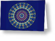 Chevrons II Mandala Greeting Card
